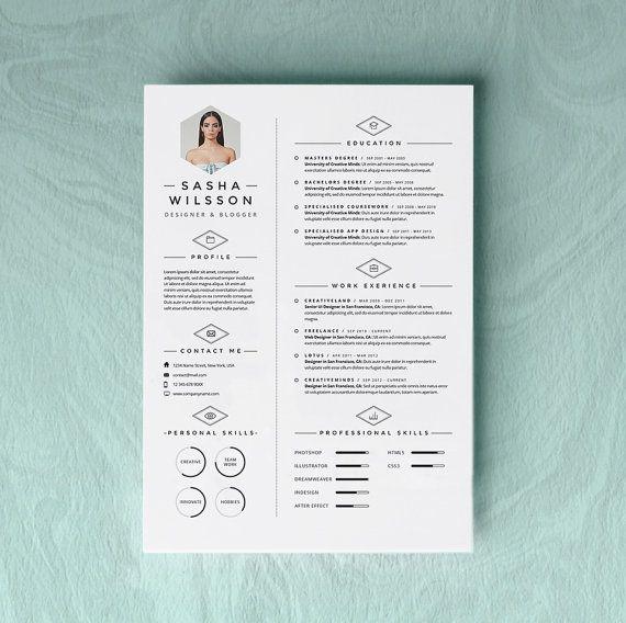 Custom Resume CV Design  Cover Letter Template  Instant
