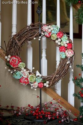 Definetly want to make something like this for a spring themed wreathe! LOVE IT, and it's so simple and chic! Plus I love homemade decor, it adds such a personal touch :)
