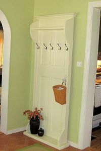 DIY coat rack from old door | DIY & Craft Ideas | Pinterest