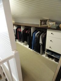 Slanted closet wall idea. | Organization and Storage ...