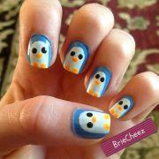penguin nail art. art