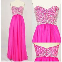 Hot Pink and Sparkly Prom Dress | Prom | Pinterest