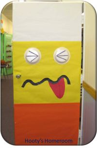 Candy Corn Monster Classroom Door #Teaching #Teach #