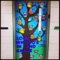 Owl door | Classroom Ideas | Pinterest