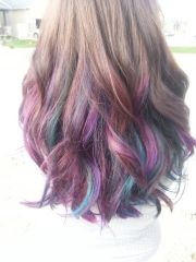 hair blondes purple