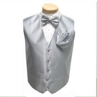 Silver Vest and Bow Tie | Silver and White Elegant Wedding ...