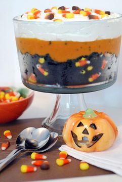 Black Velvet Halloween Trifle, perfect for Halloween parties!
