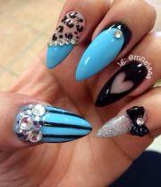 crazy stiletto nail design joy