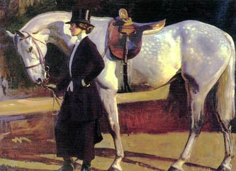 Munnings....the artist's wife and Isaac