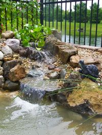Small backyard waterfall and pond | landscaping & outdoor ...