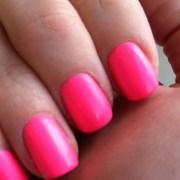 matte neon pink nails pretty