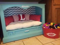 Dog bed made from an old console tv | Arts and Crafts ...