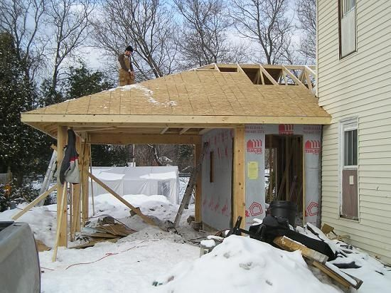 Carport addition   GARAGE ideas  attached and mudrooms  Pint