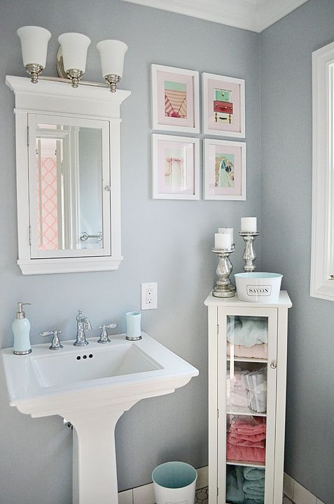 light blue  bathrooms  Pinterest