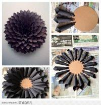 DIY: paper flower wall decor | ideas | Pinterest