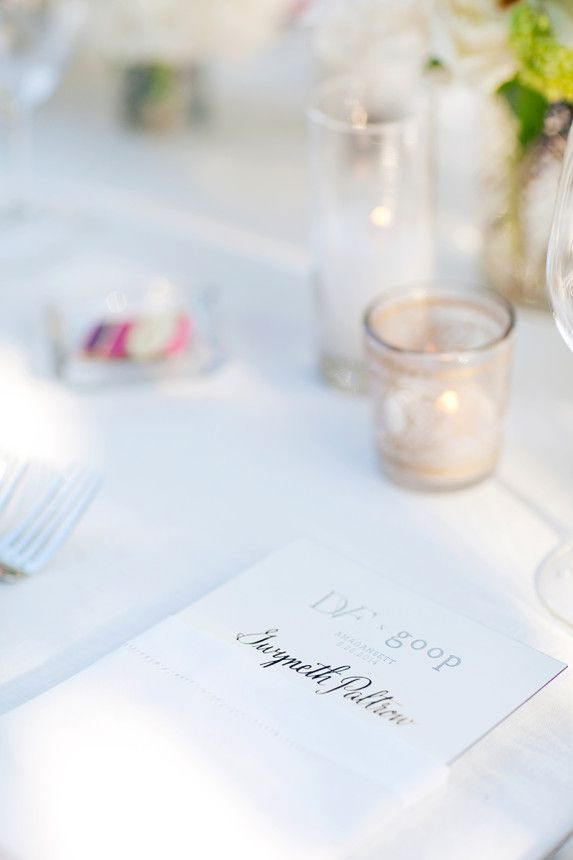 Gwyneth Paltrow's placecard