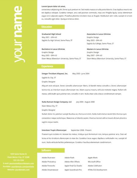 Nice Resume Layouts  Entering the Workforce again  Pinterest