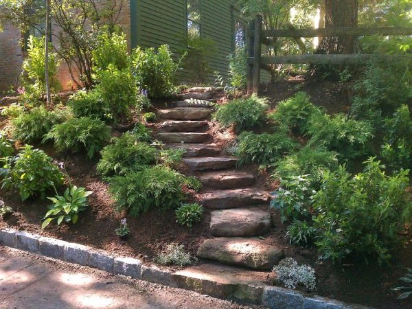 landscaping ideas slope
