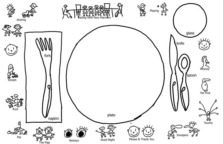 Preschool Good Manners Coloring Page Sketch Coloring Page