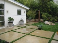 modern concrete squares for patio