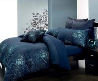 peacock bed cover blue color | For the home