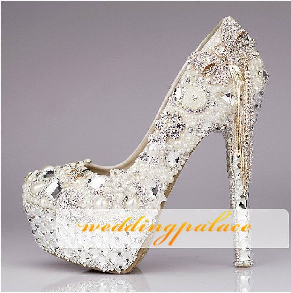 Unique Wedding shoes Butterfly wedding shoes and crystal bridal shoes