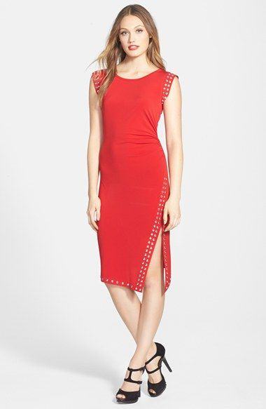 MICHAEL Michael Kors Studded Asymmetric Hem Dress