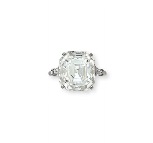 A 15.08-carat diamond ring by Cartier