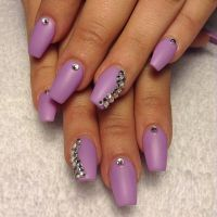 Matte lavender coffin nails | Nails and things | Pinterest