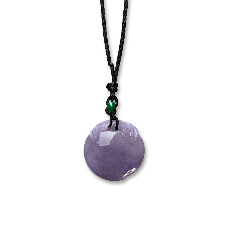 Lavender Jadeite 'Peach' and Jadeite Pendant | Lot | Sotheby's