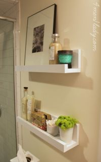 DIY floating bathroom shelves | Lancaster Ave