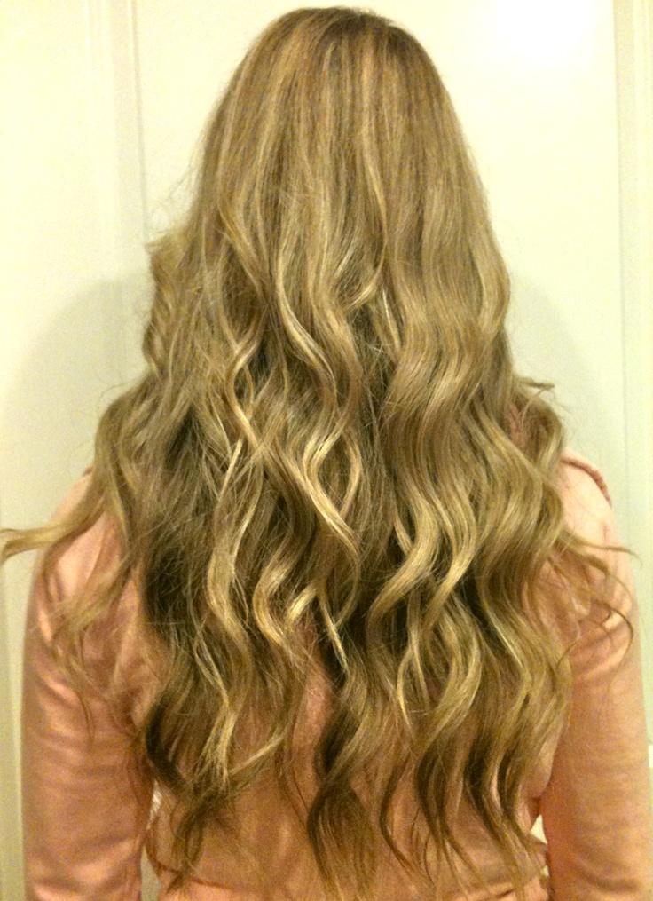 Beach Waves Perm Medium Length Hair