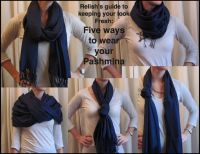 5 ways to wear a Pashmina Scarf.   stylish   Pinterest
