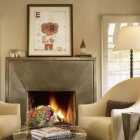 Metal fireplace mantel | Things Blue | Pinterest