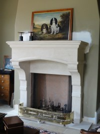 Cast Stone Fireplace Mantels | Hacienda Renovation | Pinterest