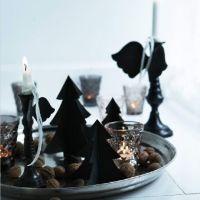 アビゲイル・レッスン:クリスマスシーズンのデコレーション。緑とキャンドル。