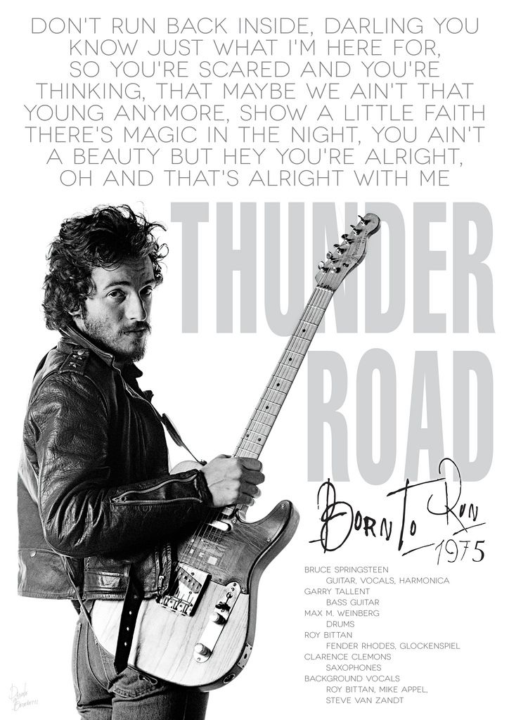 <b>Bruce</b> <b>Springsteen's</b> &quot;<b>Thunder Road&quot; | Bruce Springsteen</b> | Pinterest