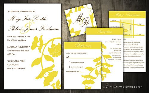 Yellow wedding invitation suite #weddinginspiration #yellowwedding #weddinginvitations #weddingpackage #weddingprograms