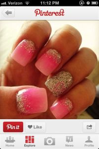 Sweet 16 nails | Sweet 16 | Pinterest