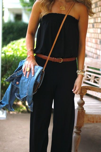 Black Casual Jumpsuit. - Thought my jump suit had passed its due date, might try and recreate it with a belt and jacket.