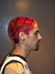 hair color - spider web design
