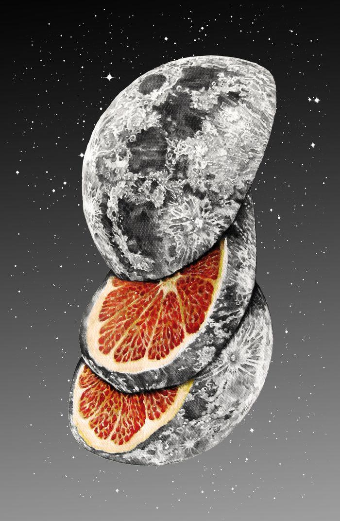 """Lunar Fruit"" Art Print by J.P Ormiston on Society6."