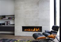 Horizontal fireplace | Home Decor | Pinterest