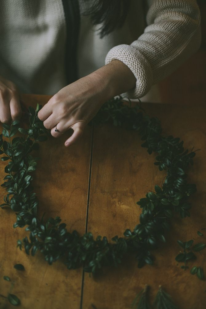 Winter wreath by Babes in Boyland