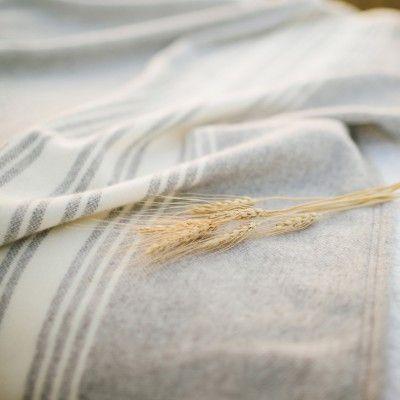 Mill Street Wool Blanket - Smoke Gray