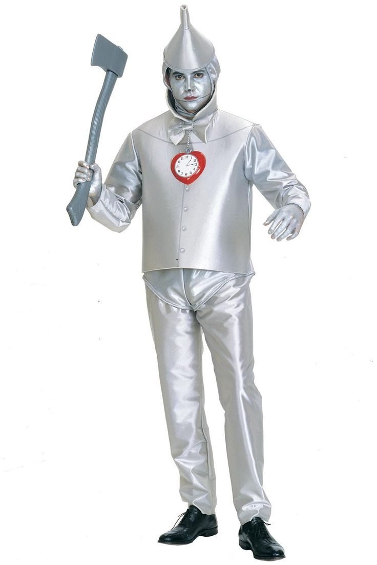 Men's The Wizard of Oz Tinman Adult Costume - Silver for Halloween