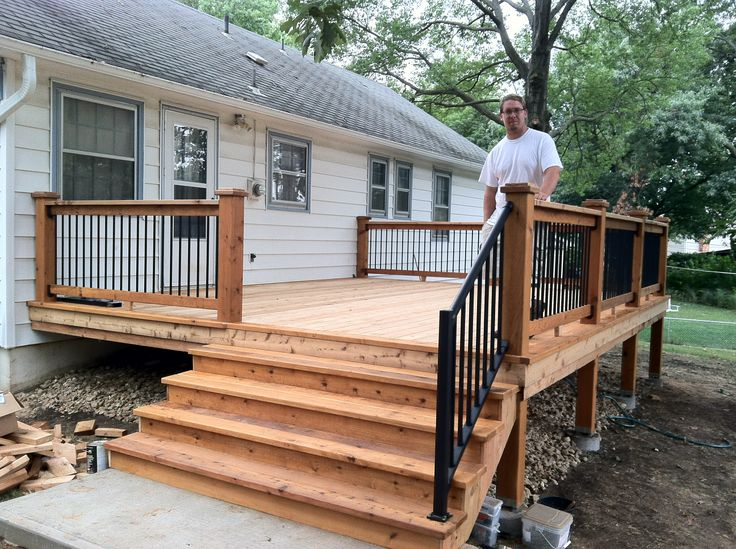A small back deck  Home design  Pinterest