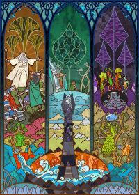 lord of the rings stained glass | Mwahaha | Pinterest