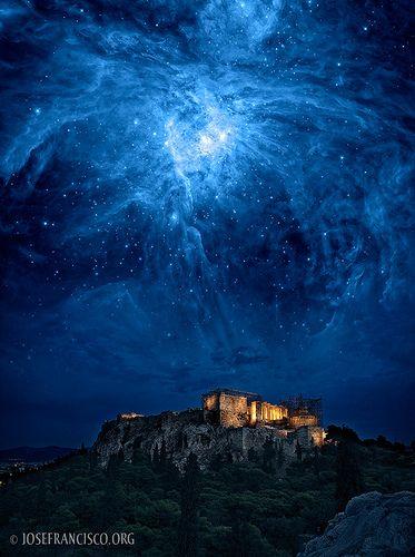 Orion Risingin Athens  Greece    by josefrancisco.salgado, via Flickr