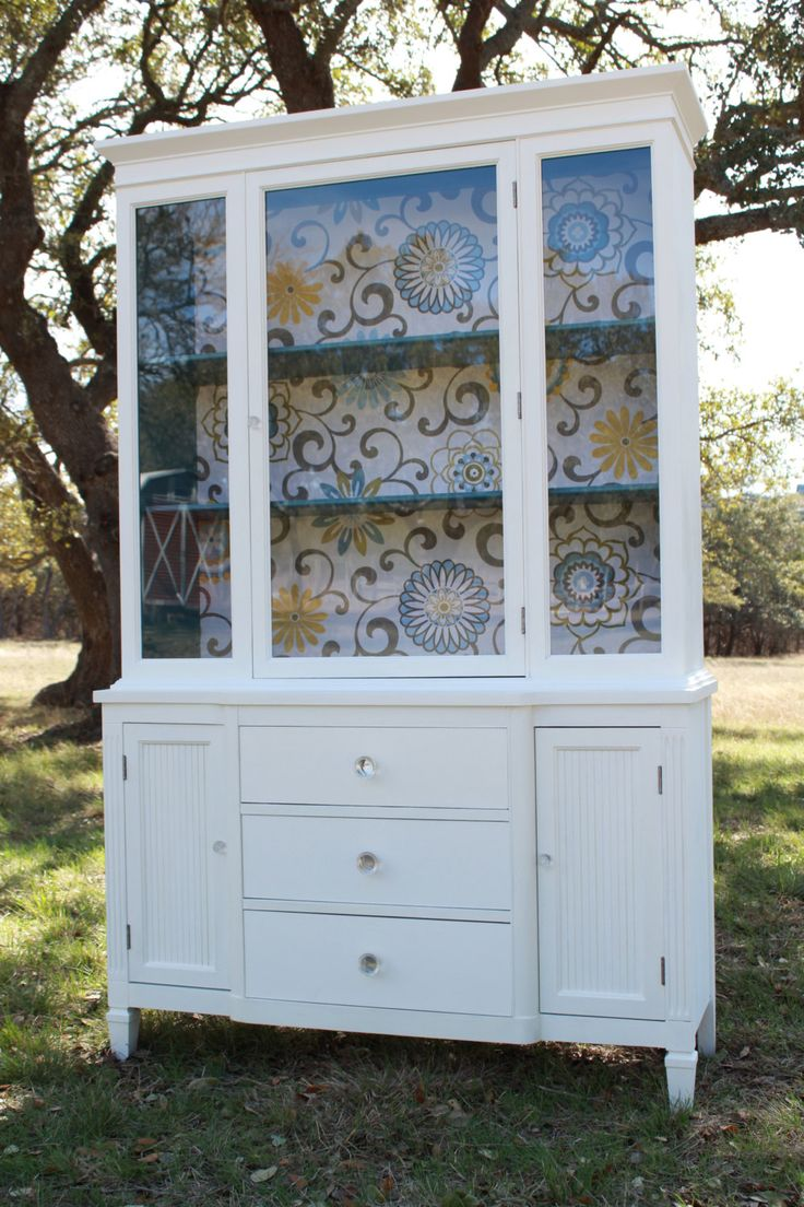 Modern Cottage Painted China Cabinet. $775.00, via Etsy.